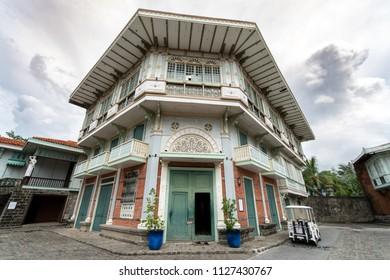 Bataan, Philippines - Jun 30,2018 : Old Spanish style house at Las casas filipinas
