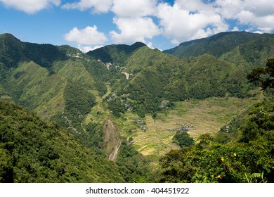 Batad rice terraces  in Banaue, Ifuego , Philippines.  Batad is situated among the Ifugao rice terraces. It is perhaps the best place to view this UNESCO World Heritage site.