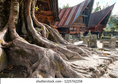 Batak's Traditional House. North Sumatera, Indonesia. You can see this heritage of Batak Tribe in Samosir Island.