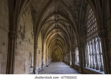 BATALHA, PORTUGAL, JUNE, 20, 2017 : architectural details of  Batalha monastery, june 20, 2017, in Batalha, Portugal