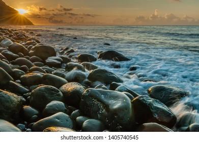Batanes Island, Philipines, 2015, Sunrise at Boulder beach