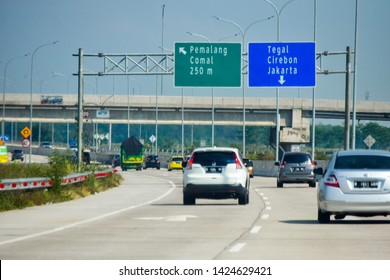 Batang, Indonesia - June 10th 2019: Trans Java toll road that connects all cities on Java from Jakarta to Surabaya.