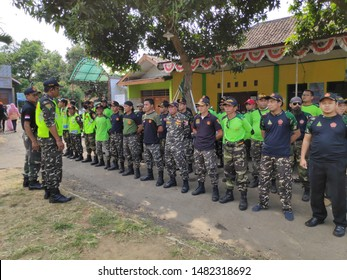 Batang,Central Java/Indonesia - August 19th 2019 : Banser is one of NU's large organizations in Indonesia