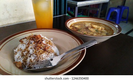 Batavia cow meat soup in Down town Jakarta Indonesia