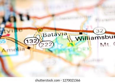 Batavia. Ohio. USA on a geography map