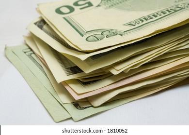 batch of american dollars