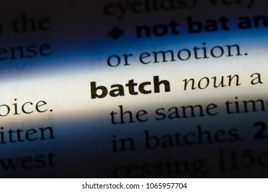 batch word in a dictionary. batch concept.