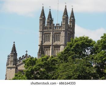Bath Abbey in Gothic style at Bath in England