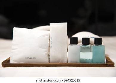 Bath accessories in hotel
