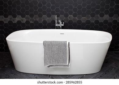 Bath in a bathroom