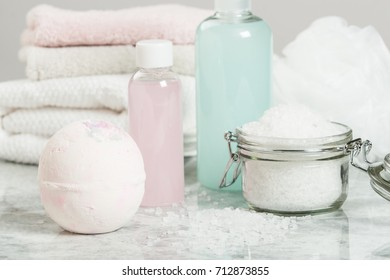 Bath Bomb. Aroma Salt. Toiletries. Spa Room