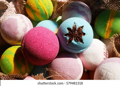 Bath bombs, Beauty products for body care, Making bath bomb, close up