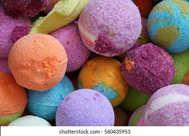 Bath bombs, colorful