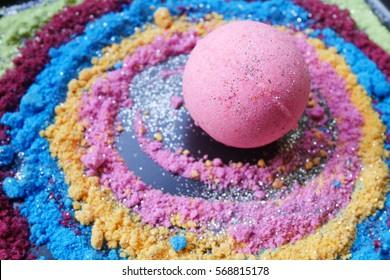 Bath bombs, colorful, Galaxy bath bombs