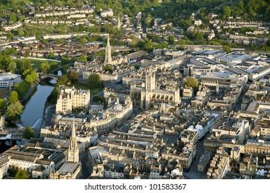 Bath city from the air