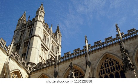 BATH / ENGLAND - JULY 02 2016: Bath Abbey