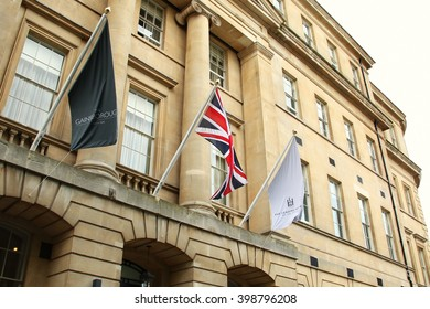 BATH, ENGLAND - OCT, 18: The leading hotel building scene on October 18, 2015 in Bath England.