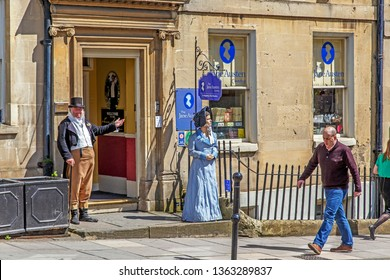 BATH, GREAT BRITAIN - MAY 14, 2014: The Jane Austen Centre is a permanent exhibition which tells the story of Jane Austen.