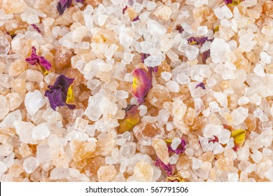 Bath salt and minerals background