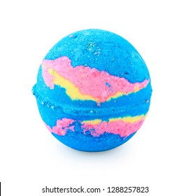 Bath salts in the form of a ball. Isolated object