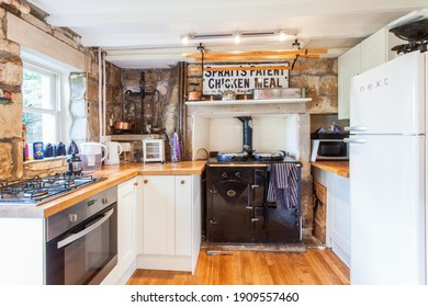 Bath, Somerset, England - July 9th 2014: A country kitchen