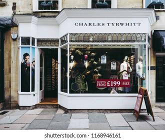 BATH, UK - CIRCA SEPTEMBER 2016: Charles Tyrwhitt storefront