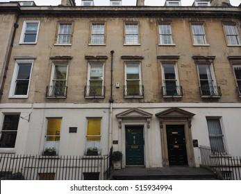 BATH, UK - CIRCA SEPTEMBER 2016: Admiral Lord Nelson house in Bath