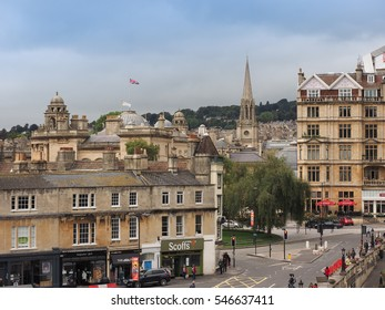 BATH, UK - CIRCA SEPTEMBER 2016: View of the old city centre
