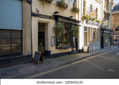 Bath, UK: October 09, 2018: The Salamander, 3 John St, Bath
