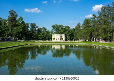 Bathhouse pavilion in Catherine park  in Tsarskoe Selo near Saint Petersburg, Russia