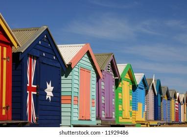 - bathing boxes at Brighton Beach, Melbourne, Victoria, Australia