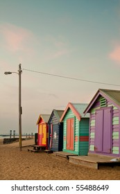 Bathing boxes at Brighton beach in Melbourne