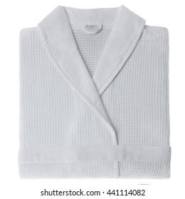 bathrobe on white background