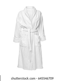 Bathrobe on white background