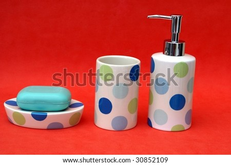 Stupendous Bathroom Accessories Bottle Cup Crockery Tablet Stock Photo Download Free Architecture Designs Rallybritishbridgeorg