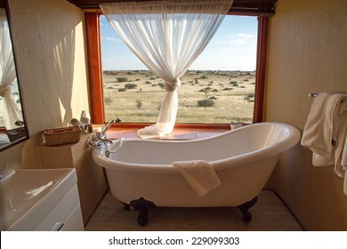 Bathroom in a african Lodge, Namibia