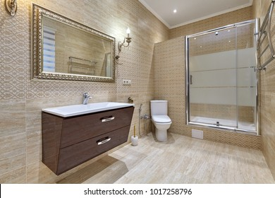 bathroom with a beautiful interior