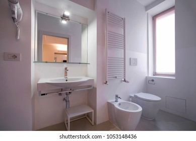 bathroom with complete sanitary ware