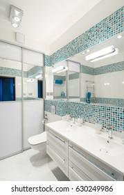 Bathroom in contemporary house.