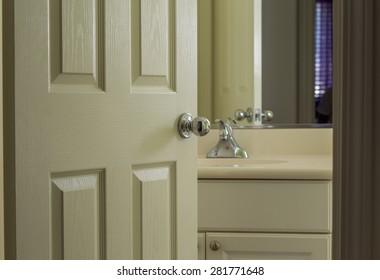 Bathroom Door Open
