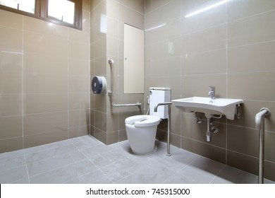 Bathroom for the elderly and the disabled was newly built and was not used.