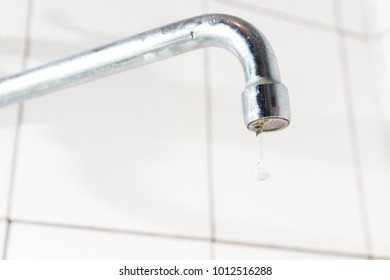 Bathroom faucet, no water in the kitchen faucet, or bathroom, drops from the sanitary ware, communal payments and services