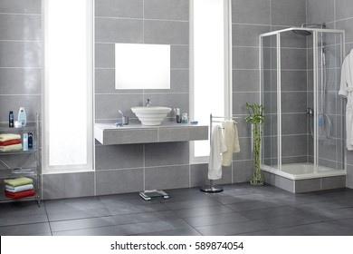 bathroom tiles. Fine Tiles Bathroom With Gray Tiles In Tiles H