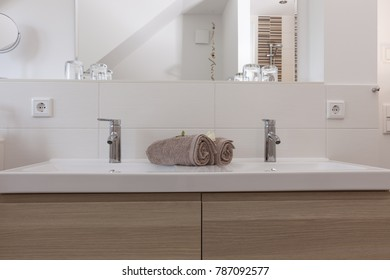Bathroom of a holiday home on the Baltic Sea