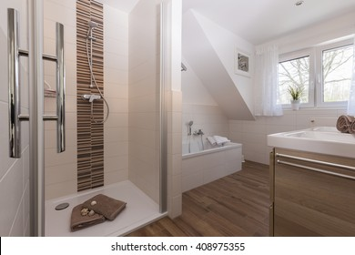 bathroom in holiday house