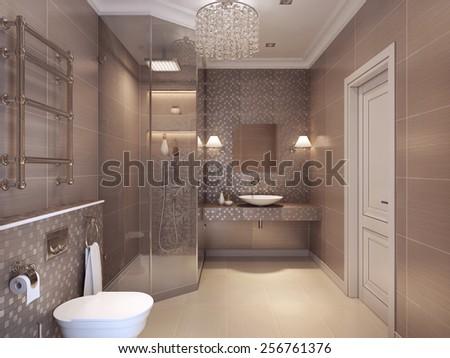 Bathroom luxurious art deco style classical stock photo edit now