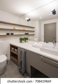 Bathroom. Modern bathroom interior.