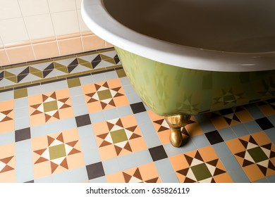 Bathroom on the tile