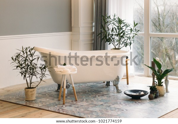 bathroom with panoramic windows
