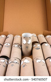 Bathroom Paper Rolls Recycled . Group of people working together
